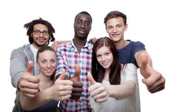 Thumbs up for this all together Stock Photography