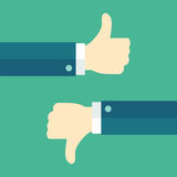 Thumbs Up And Thumbs Down Royalty Free Stock Photo