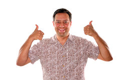 Thumbs up with approval Stock Photography