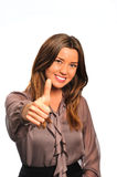 Thumbs up, approved Stock Photo
