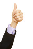 Thumbs up as symbol for success Royalty Free Stock Photography