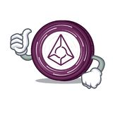 Thumbs up Augur coin character cartoon. Vector illustration Royalty Free Stock Photos