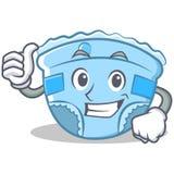 Thumbs up baby diaper character cartoon Royalty Free Stock Photo