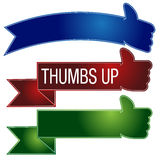 Thumbs Up Banner Set Royalty Free Stock Photography