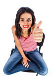 Thumbs up from a Beautiful Girl Stock Image