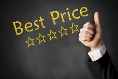 Thumbs up best price Royalty Free Stock Photos