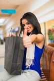 Thumbs up for Best Shopping Day Ever Stock Photo
