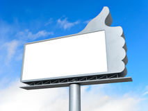 Thumbs up billboard Stock Photography
