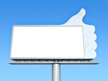 Thumbs up billboard Royalty Free Stock Image