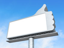 Thumbs up billboard Royalty Free Stock Images