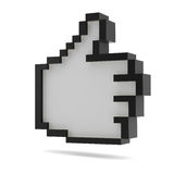 Thumbs Up. Black and white. Pixel style Stock Photos