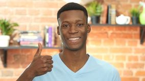 Thumbs Up By Black Young Man stock video
