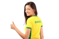 Thumbs up for Brazil. Royalty Free Stock Photo