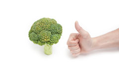 Thumbs up for broccoli Royalty Free Stock Images