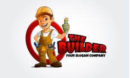 TheBuilder Vector Logo Character stock illustration
