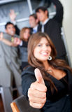 Thumbs up - Business Royalty Free Stock Photography