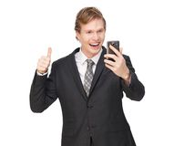 Thumbs Up for Business Royalty Free Stock Images