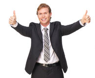Thumbs Up Business Executive Royalty Free Stock Photo
