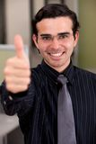 Thumbs up business man Royalty Free Stock Photos