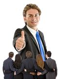 Thumbs-up business man Stock Photography