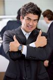 Thumbs up business man Royalty Free Stock Image