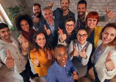 Thumbs up-Business people corporate success Stock Image