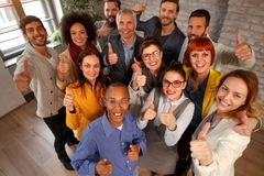 Thumbs up- Business success and winning Stock Photos