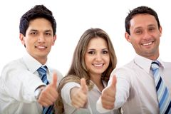 Thumbs up business team Royalty Free Stock Images
