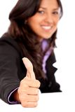 Thumbs-up business woman Royalty Free Stock Photo