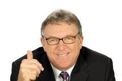 Thumbs Up Businessman Royalty Free Stock Image