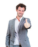 Thumbs up businessman Royalty Free Stock Photos