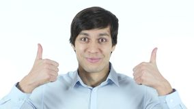 Thumbs Up By Businessman, Excitement,Young,,,, stock video