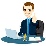 Thumbs Up Businessman Royalty Free Stock Photography