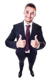 Thumbs up businessman Stock Photo
