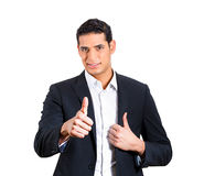 Thumbs up businessperson Royalty Free Stock Photos