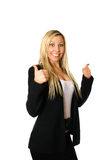 Thumbs up businesswoman Royalty Free Stock Photo