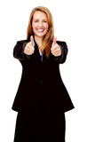 Thumbs up businesswoman Stock Photography