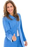 Thumbs up businesswoman Royalty Free Stock Images