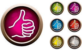 Thumbs Up Button. An illustration of a Thumbs Up Button Stock Photo