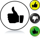 Thumbs up button Royalty Free Stock Images
