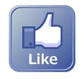 Thumbs up button - like button Stock Photos