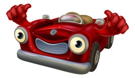 Thumbs up cartoon car Royalty Free Stock Photo