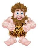 Thumbs Up Cartoon Caveman Royalty Free Stock Image