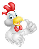 Thumbs Up Cartoon Chicken Royalty Free Stock Photography