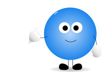 Thumbs up cartoon man Royalty Free Stock Photos