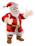 Thumbs up cartoon Santa Stock Photography