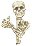 Thumbs Up Cartoon Skeleton Sign Royalty Free Stock Images