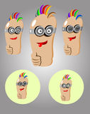 Thumbs up cartoon Stock Photos