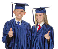 Thumbs up child graduate Royalty Free Stock Photography
