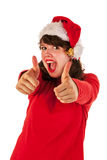 Thumbs up for Christmas Royalty Free Stock Photo